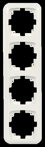 Abdeckrahmen ''AMBIENT'', Unterputz, 4-fach, 296x80x11 mm, cremeweiß
