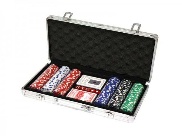 300 Poker Chips mit Alukoffer 11,5 Gramm Laserchips