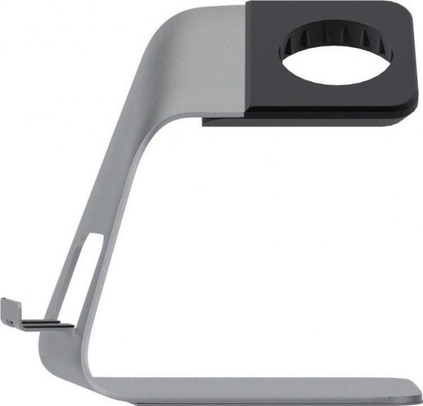 Dock Base eleganter Alu - Ständer für die Apple Watch Silber