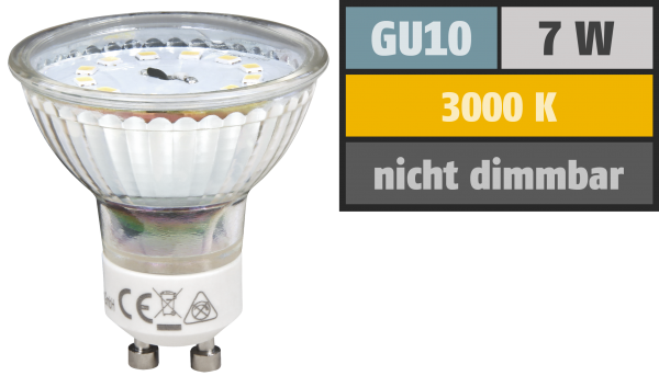 LED-Strahler McShine ''ET70'', GU10, 7W, 470 lm, warmweiß