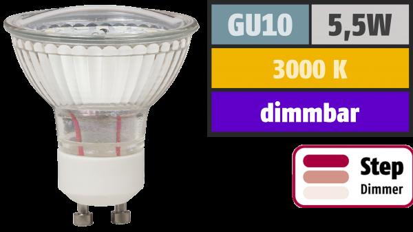 LED-Strahler McShine ''LS-450'' GU10, 5,5W, 470lm, warmweiß, step dimmbar 100/50/20%
