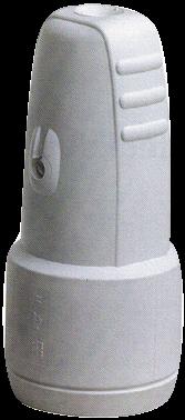 Gummi-Schutzkontakt-Kupplung McPower, grau, spritzwassergeschüŸtzt, mit Deckel