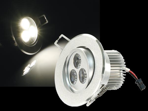 LED-Einbaustrahler McShine ''LES-686'', 6W LEDs, 86mm-Ø, warmweiß