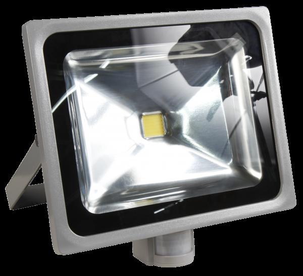 LED-Außenstrahler McShine mit Bewegungsmelder, 50W, IP44, 4.500 lm, neutralweiß