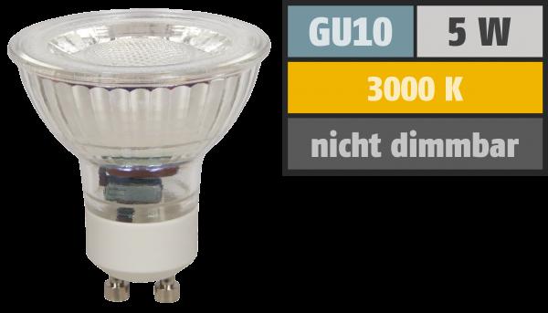 LED-Strahler McShine ''MCOB'' GU10, 5W, 400 lm, warmweiß