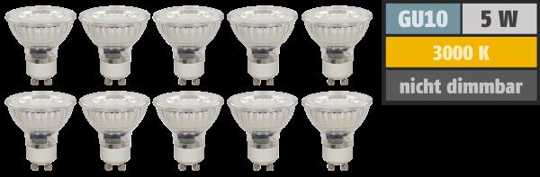 LED-Strahler McShine ''MCOB'' GU10, 5W, 400 lm, warmweiß, 10er-Pack