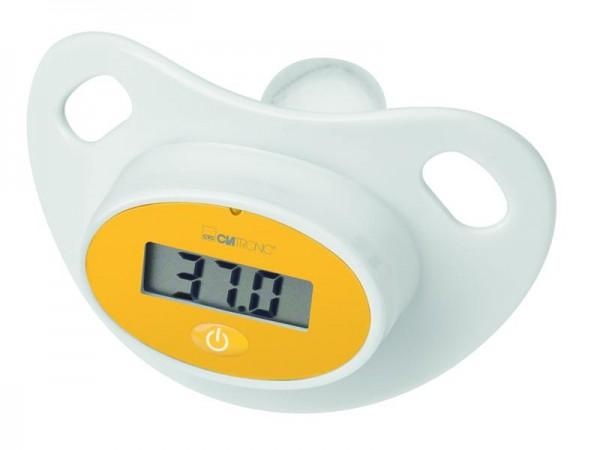 Baby Schnuller / Nuckel mit Fieberthermometer / Digital / Weiß / FT 3618 / LCD