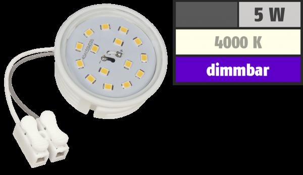 LED-Modul McShine, 5W, 400 Lumen, 230V, 50x23mm, neutralweiß, 4000K, dimmbar
