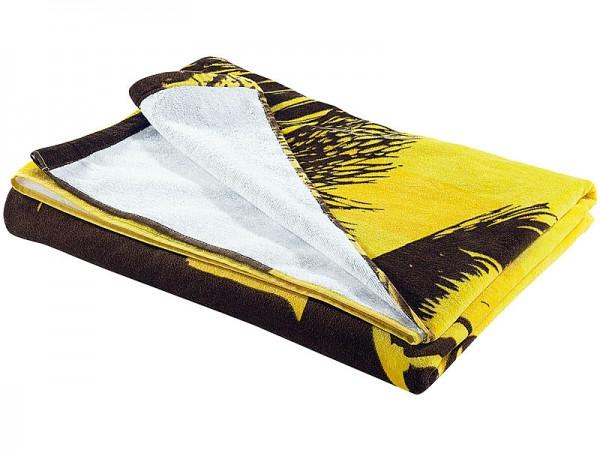 PEARL Riesenhandtuch: Extragroßes Bade- und Strand-Handtuch 100x180cm mit Motiv