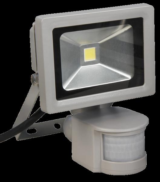 LED-Außenstrahler McShine mit Bewegungsmelder, 10W, IP44, 900 lm, neutralweiß