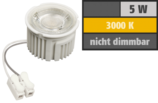 LED-Modul McShine ''MCOB'' 5W, 400lm, 230V, 50x33mm, warmweiß, 3000K