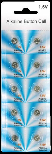 Knopfzelle McPower AG3, 7,9x3,6 mm, 1,5 V 10er-Pack auf Blister