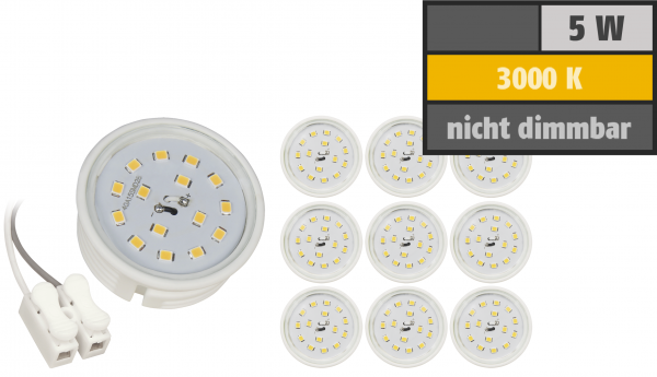 LED-Modul McShine, 5W, 400lm, 230V, 50x20mm, warmweiß, 3000K, 10er-Pack