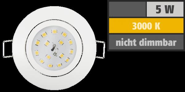 LED Einbauleuchte McShine ''Slim'' 82x28mm, 5W, 400lm, 3000K, weiß