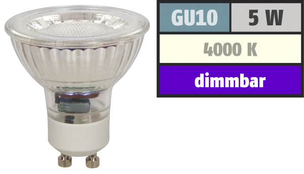 LED-Strahler McShine ''MCOB'' GU10, 5W, 350 lm, neutralweiß, dimmbar