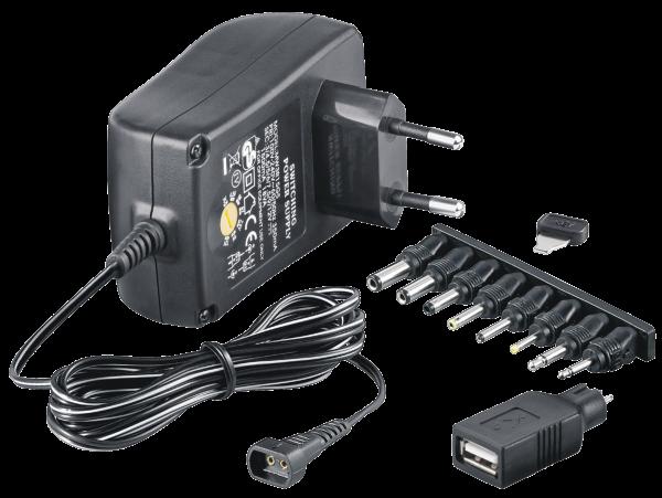 Universal Netzteil 1500mA 3V 4,5V 5V 6V 7,5V 9V 12V mit 7 Adapter + USB McPower