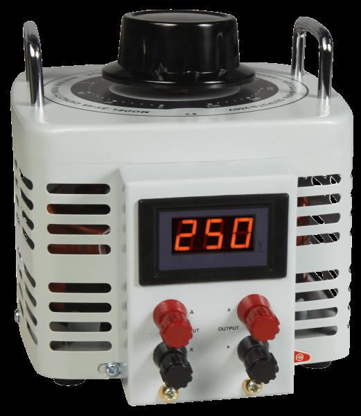 Ringkern-Stelltrafo McPower ''V-4000 LED'', 0-250 V, 4 A, 1.000 W, NICHT galvanisch getrennt