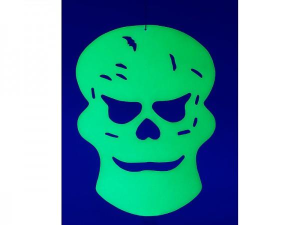 Glow-in-the-dark Halloween-Fensterdeko Totenkopf, 26 x 19 cm