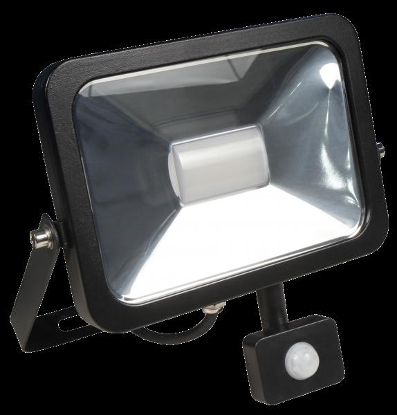 LED-Außenstrahler McShine ''Slim'', 30W, 2.250 lm, Bewegungsmelder, IP44, neutralweiß