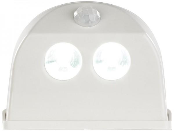 2er-Set LED-Türleuchten, Bewegungs-/Lichtsensor, 0,4 W, 50 lm, weiß