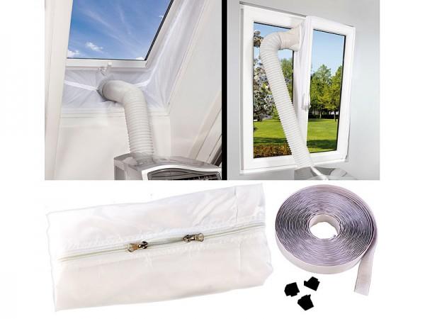 Klimaanlage Auslass: Abluft Fensterabdichtung für mobile Klimageräte, Hot Air Stop