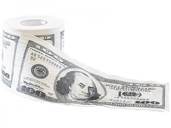 """infactory Papier für die Toilette: Dollar-Toilettenpapier """"100$-Scheine"""""""