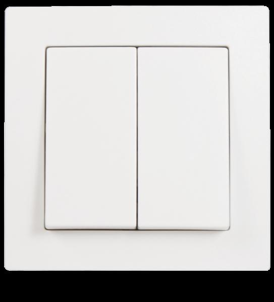 Serien-Schalter McPower ''Flair'', 2-fach, 250V~/10A, UP, weiß