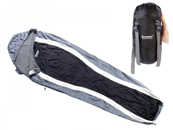 Leichter Mumien-Schlafsack mit Fleece-Futter, 215 x 75 x 50 cm