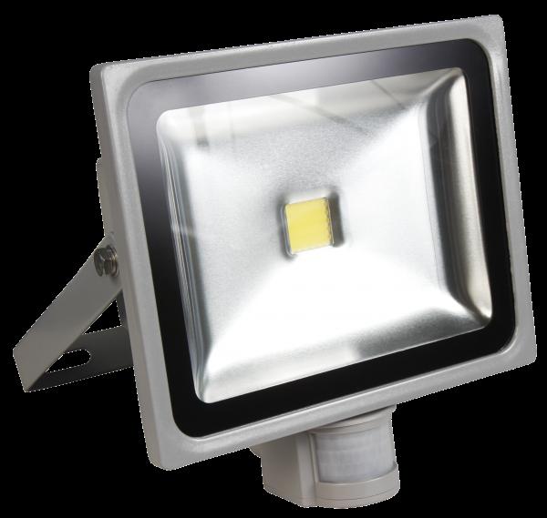 LED-Außenstrahler McShine mit Bewegungsmelder, 30W, IP44, 2.700 lm, neutralweiß
