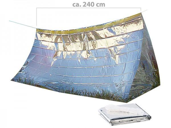 Survival-Set mit Notfall-Zelt und Folien-Schlafsack