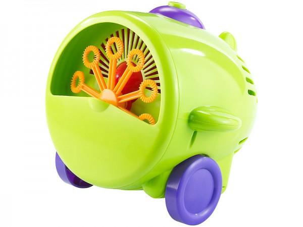 Seifenblasen-Maschine im lustigen Fliegerlook