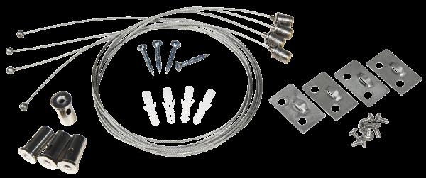 Seilsystem füŸr LED-Panels McShine, Deckenbefestigung