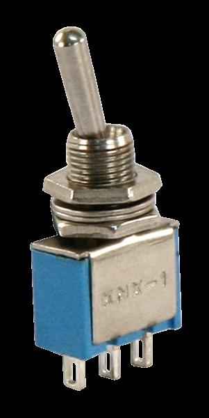 Miniatur-Kippschalter McPower, 3-polig, 1xUM, 2 Stellungen: EIN / EIN