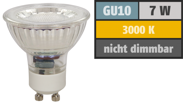 LED-Strahler McShine ''MCOB'' GU10, 7W, 550 lm, warmweiß