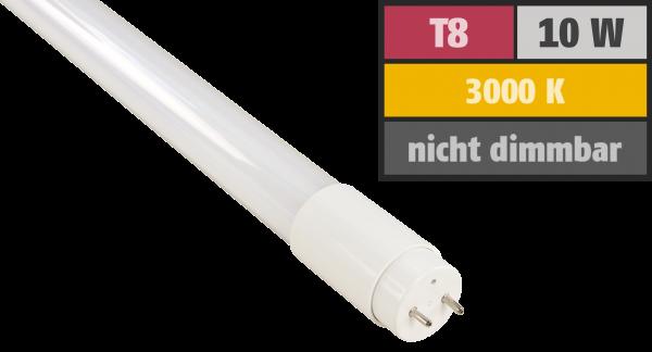 LED-Ršöhre McShine, T8, 10W, 1.000 lm, 200°, 60cm, warmweiß, inkl. Starter