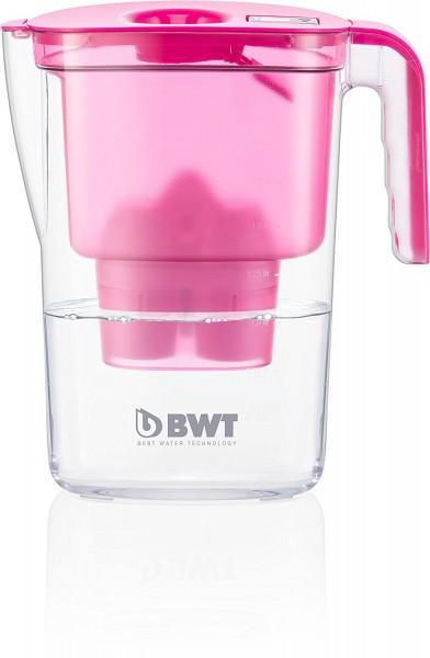 BWT Tischwasserfilter Vida 2,6l pink; mit einer Kartuschen, angereichert mit wertvollem Magnesium fü