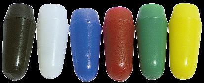 Mini-Kippschalter-Abdeckkappen McPower, 20-tlg., 5x rot+sw, 3x blau+gelb, 2x weiß+grŸün