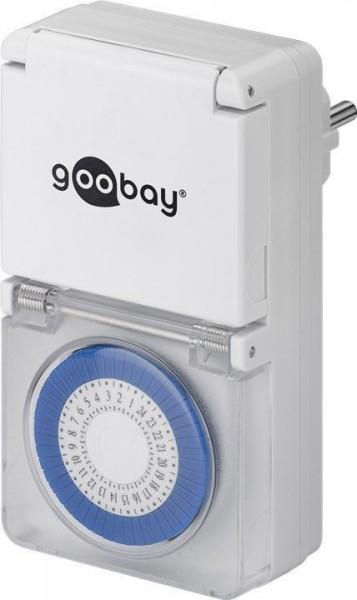 Zeitschaltuhr für die Steckdose Spritzwassergeschützt IP44, Weiß