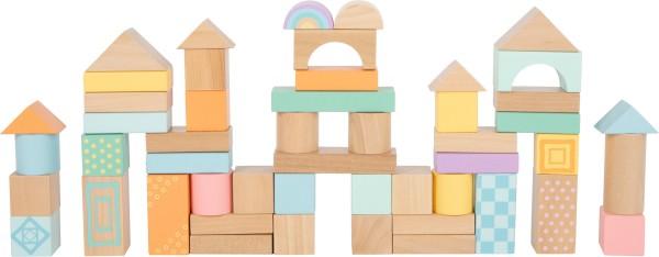 Holzbausteine Pastell für Kinder