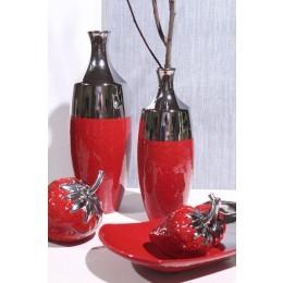 """Vase """"Facella"""" platin-rot"""