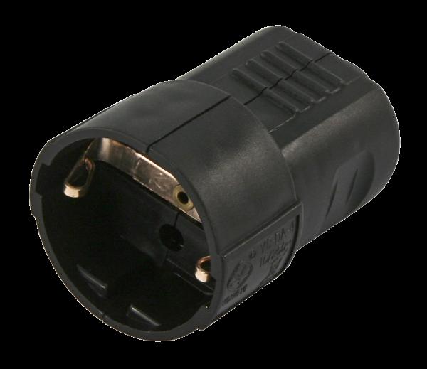 Schutzkontakt-Kupplung McPower, schwarz