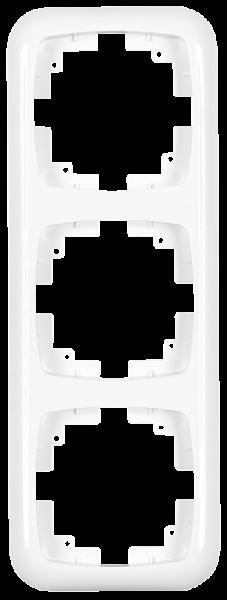 Abdeckrahmen ''AMBIENT'', Unterputz, 3-fach, 222x80x11 mm, polarweiß
