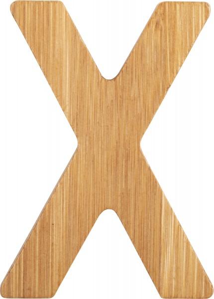 ABC Buchstaben Bambus X