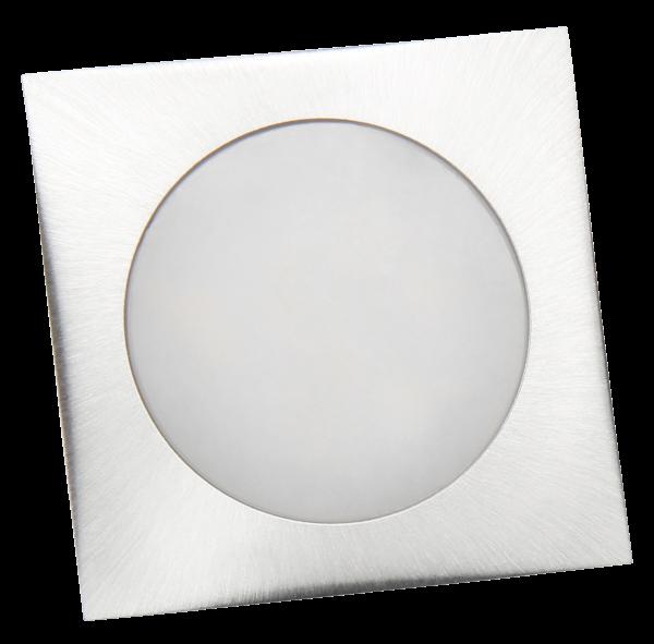 LED-Einbauleuchte McShine ''Fine'', 9 LEDs, weiß, 55x55mm, quadratisch, Edelstahl