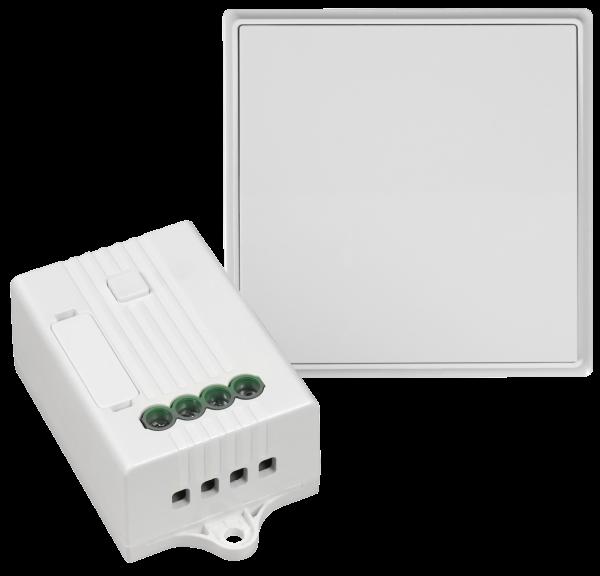 Funk-Wechselschalter Set McPower, 1-fach, bis zu 160m, ohne Batterie