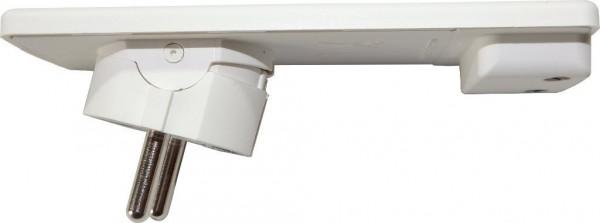 EVOline Plug extraflacher Schukostecker in weiß mit beweglichem Stecker