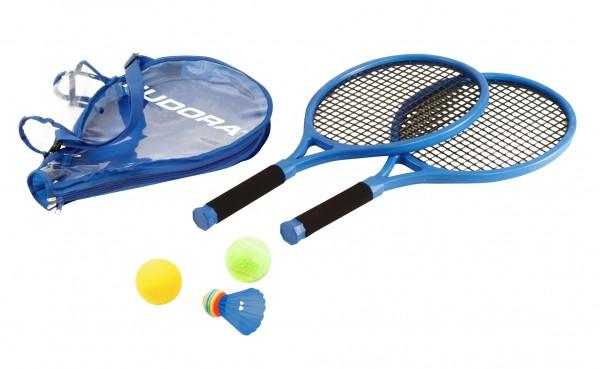 HUDORA Kinder-TennissetTennis Schläger Ball Tasche Softtennis Ballspiel Kinder