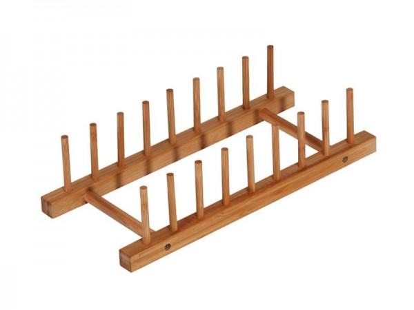 Bambus Geschirrablage Geschirrhalter Ablage Abtropfgestell Abtropfgitter