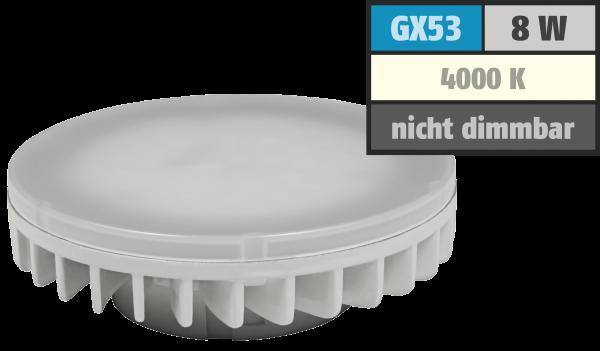 LED-Strahler McShine ''LS-853'', GX53, 8W, 800lm, Ø75x25mm, 120°, neutralweiß