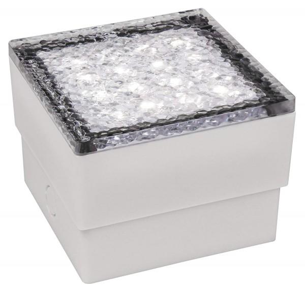 LED-Bodenleuchte McShine ''Pflasterstein'' 10x10x7cm, 80lm, IP65, warmweiß, 230V